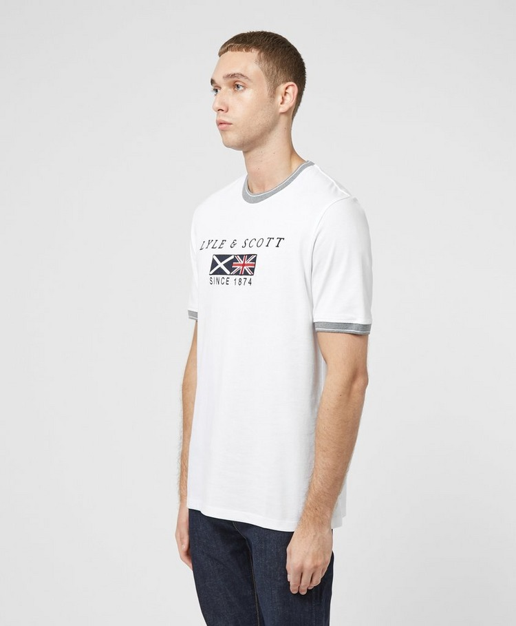 Lyle & Scott Embroidered Flag Short Sleeve T-Shirt