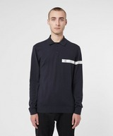 Armani Exchange Off Stripe Long Sleeve Knitted Polo Shirt