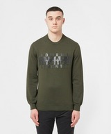 Armani Exchange Bicol Embossed Logo Crew Sweatshirt