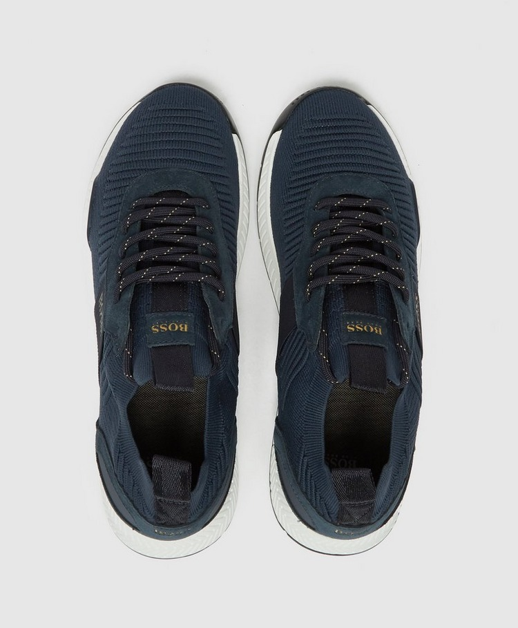 BOSS Titanium Knit Trainers
