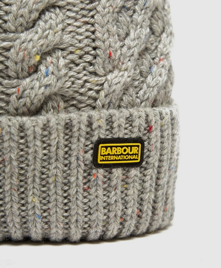 Barbour International Knitted Bobble Hat