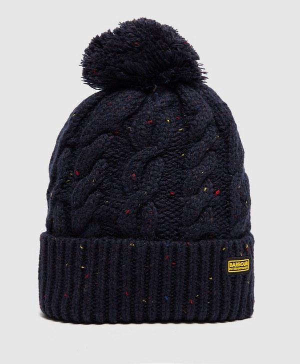 Barbour International Knitted Bobble Hat - Exclusive