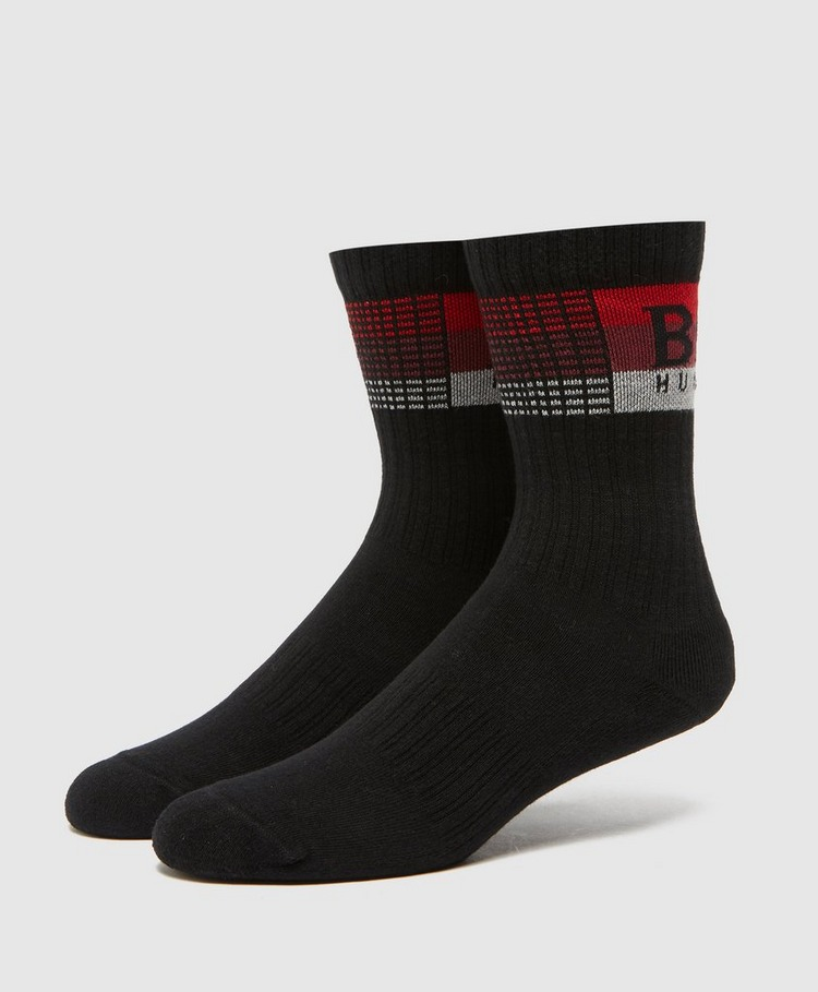 BOSS Stripe Ribbed Socks