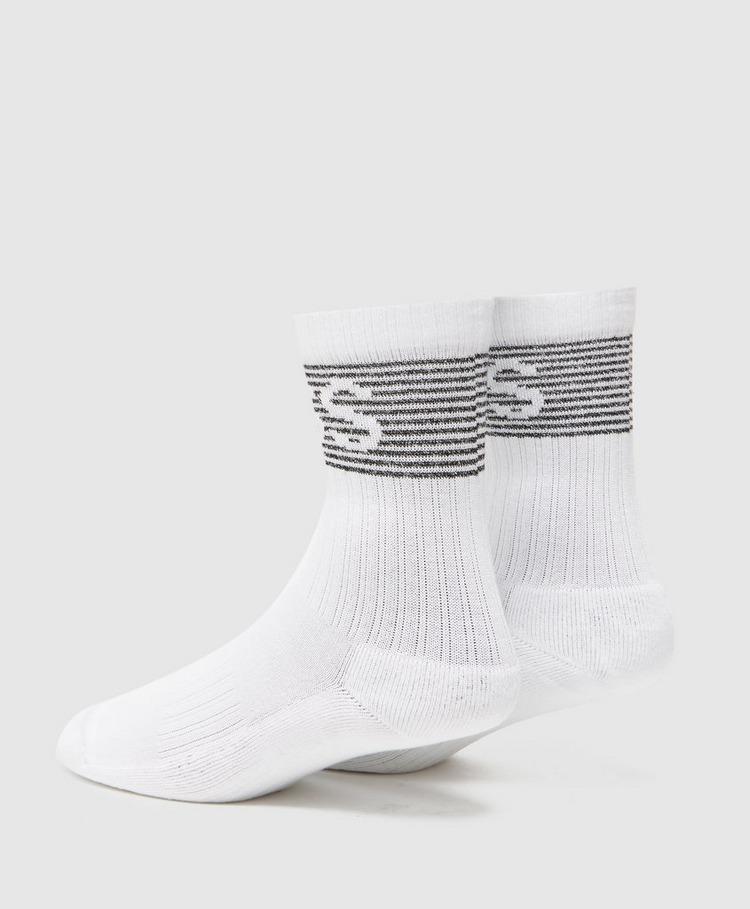 BOSS Ribbed Shine Logo Socks