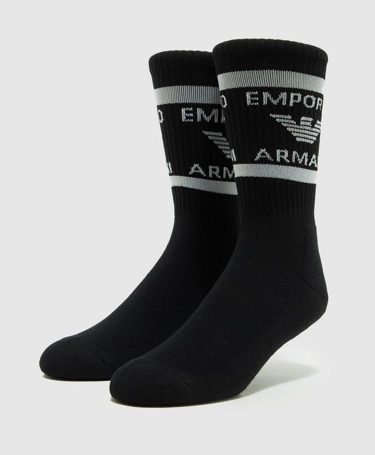 Emporio Armani Loungewear 2 Pack Sponge Cotton Socks