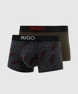 HUGO 2 Pack of All Over Logo Trunks
