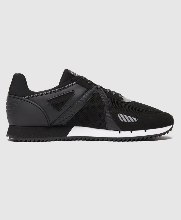 Emporio Armani EA7 Black & White Lace Trainers