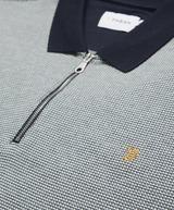 Farah Zip Pique Polo Shirt