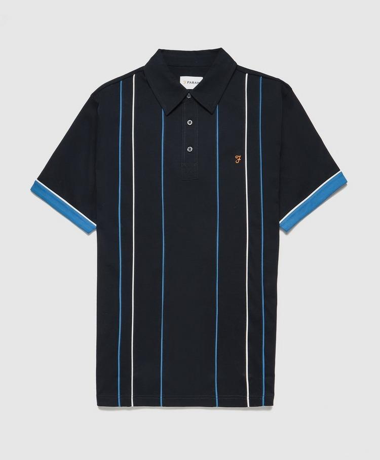 Farah Vertical Stripe Polo Shirt