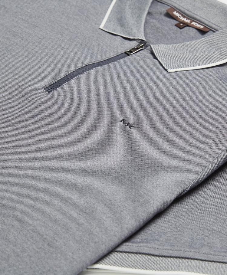 Michael Kors Birdseye Zip Polo Shirt