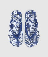 Emporio Armani Loungewear All Over Print Logo Flip-Flops