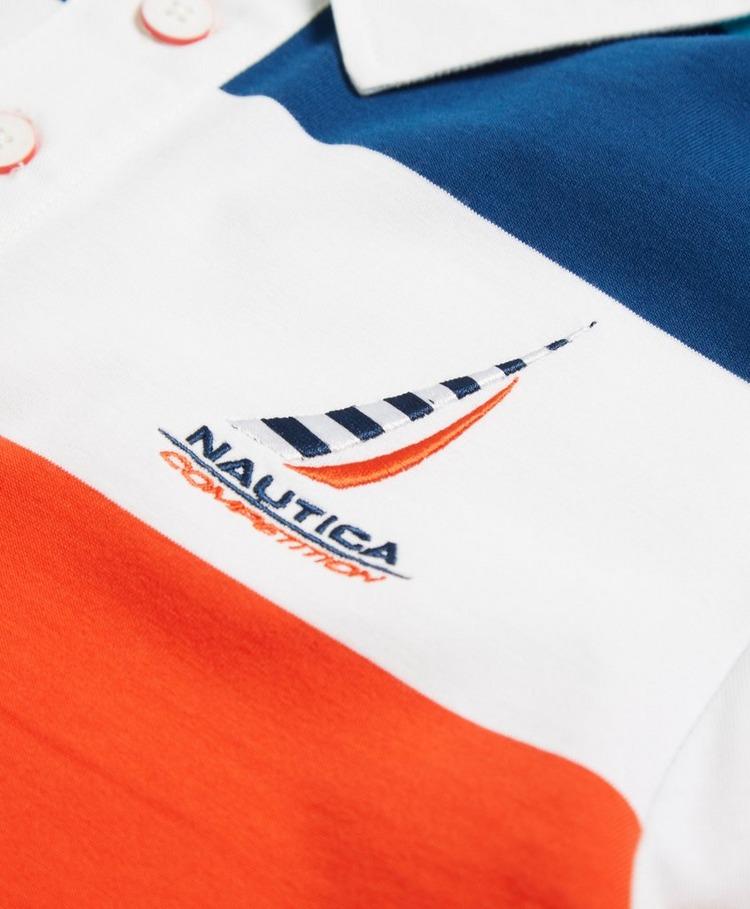 Nautica Competition English Stripe Logo Rugby Polo Shirt