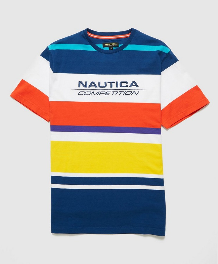 Nautica Competition English Stripe Logo T-Shirt