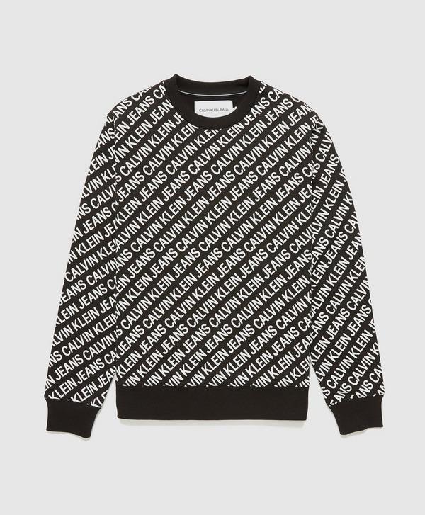 Calvin Klein Jeans All Over Print Diagonal Sweatshirt