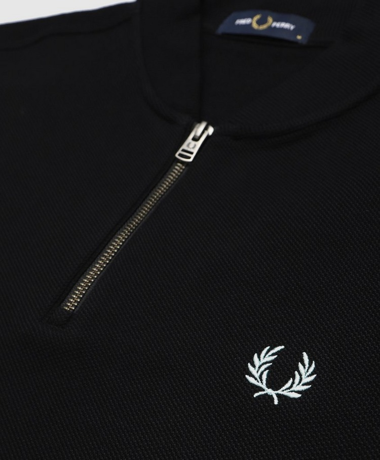 Fred Perry Tipped Cuff Zip Polo Shirt