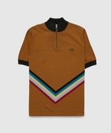 Fred Perry Chevron Knitted Polo Shirt