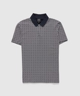 Armani Exchange All Over Square AX Polo Shirt