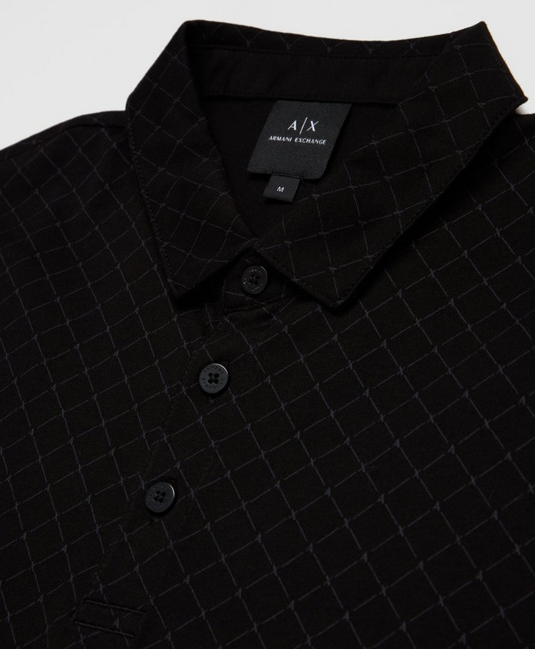 Armani Exchange Diamond Print Polo Shirt