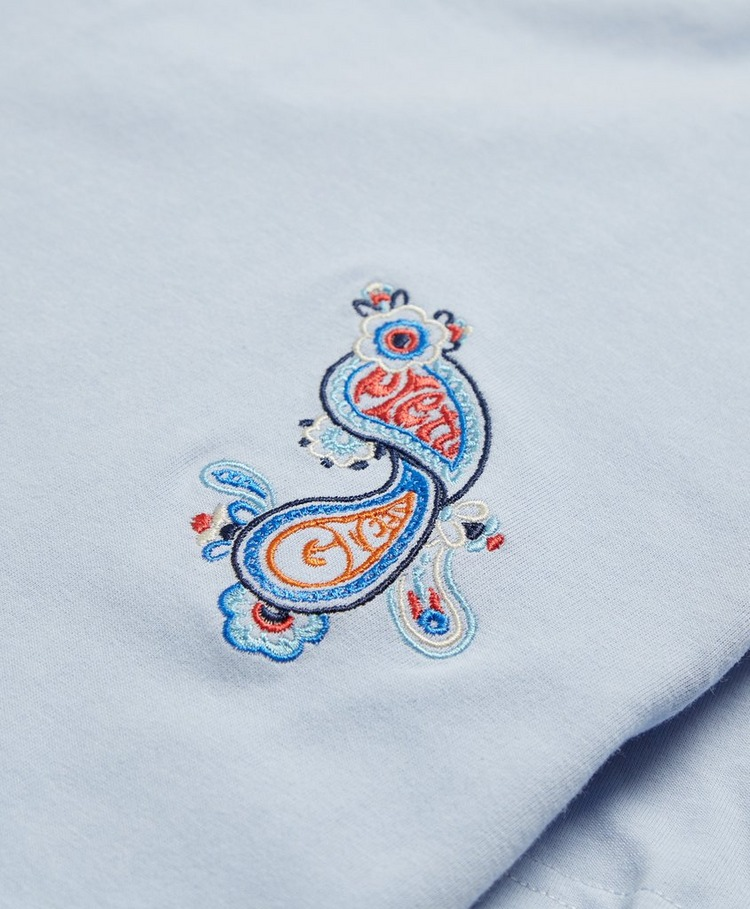 Pretty Green Wonderwall Embroidered Paisley T-Shirt