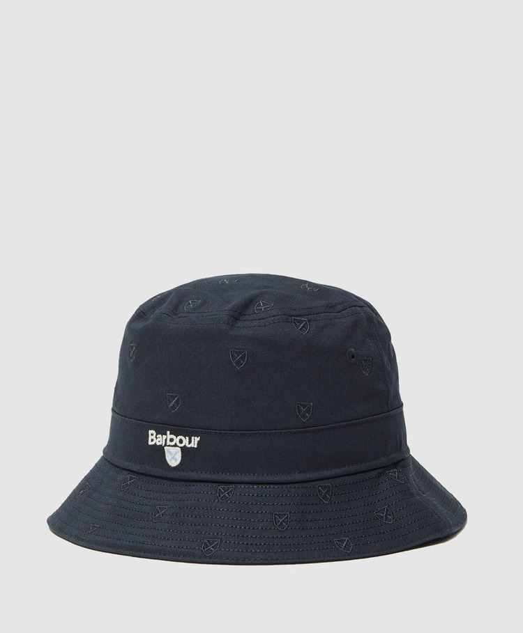 Barbour Embroidered Crest Bucket Hat