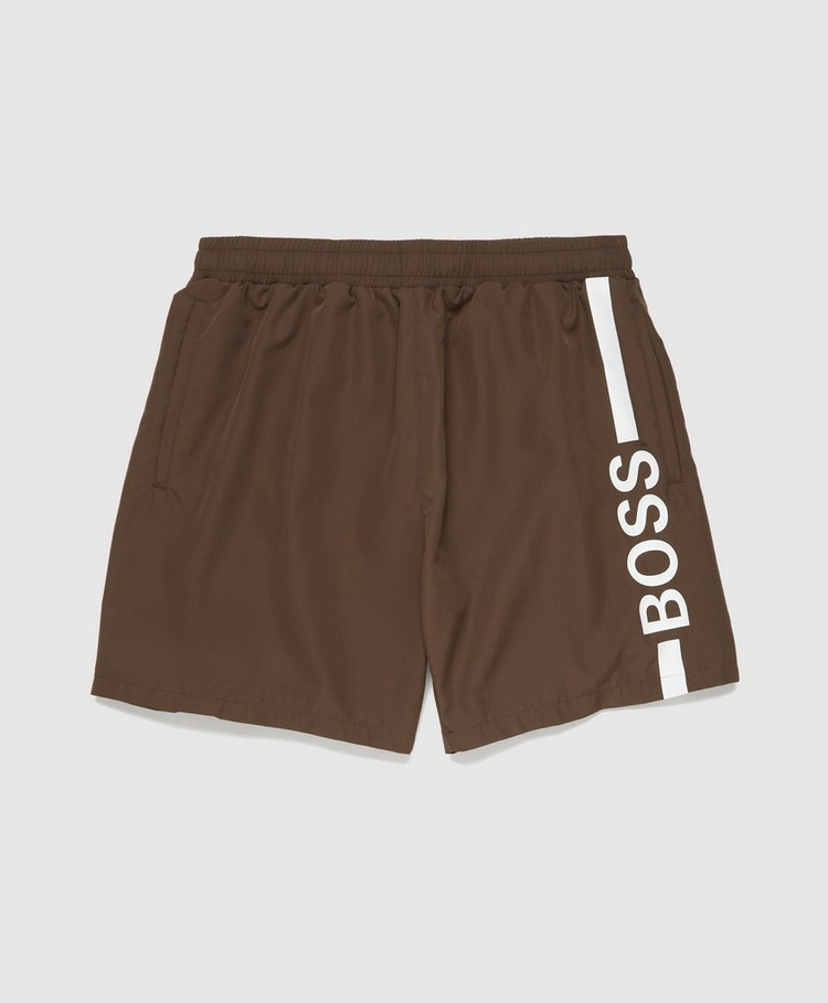 BOSS Dolphin Vertical Logo Swim Shorts