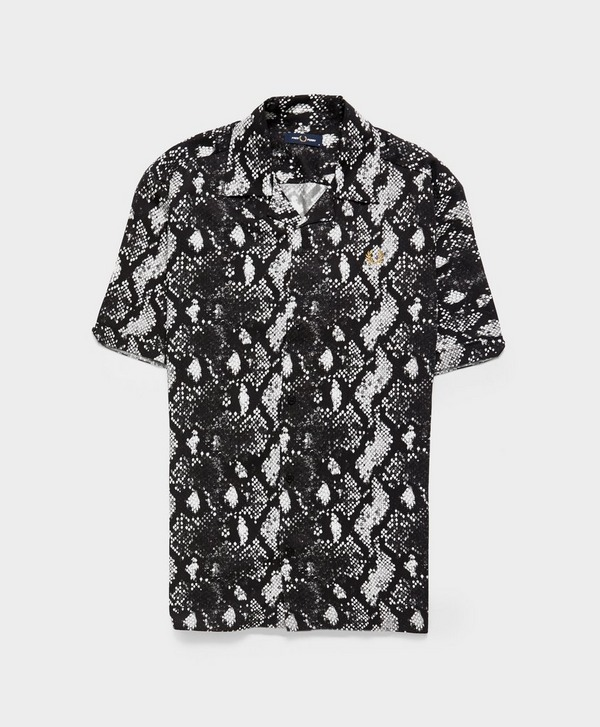 Fred Perry Snake Print Revere Shirt