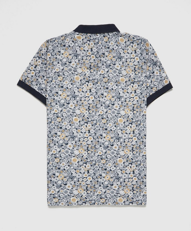 Pretty Green Record Print Polo Shirt - Exclusive