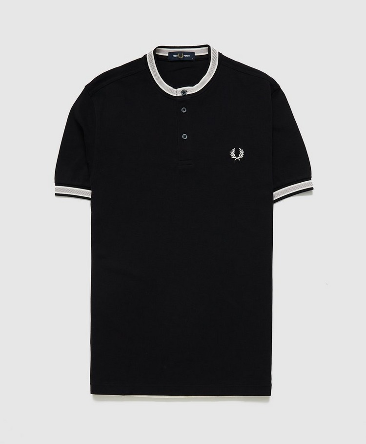 Fred Perry Textured Tip Henley Polo Shirt