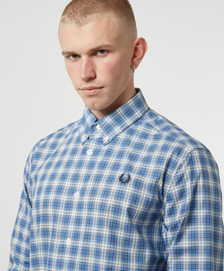 Fred Perry Small Check Long Sleeve Shirt