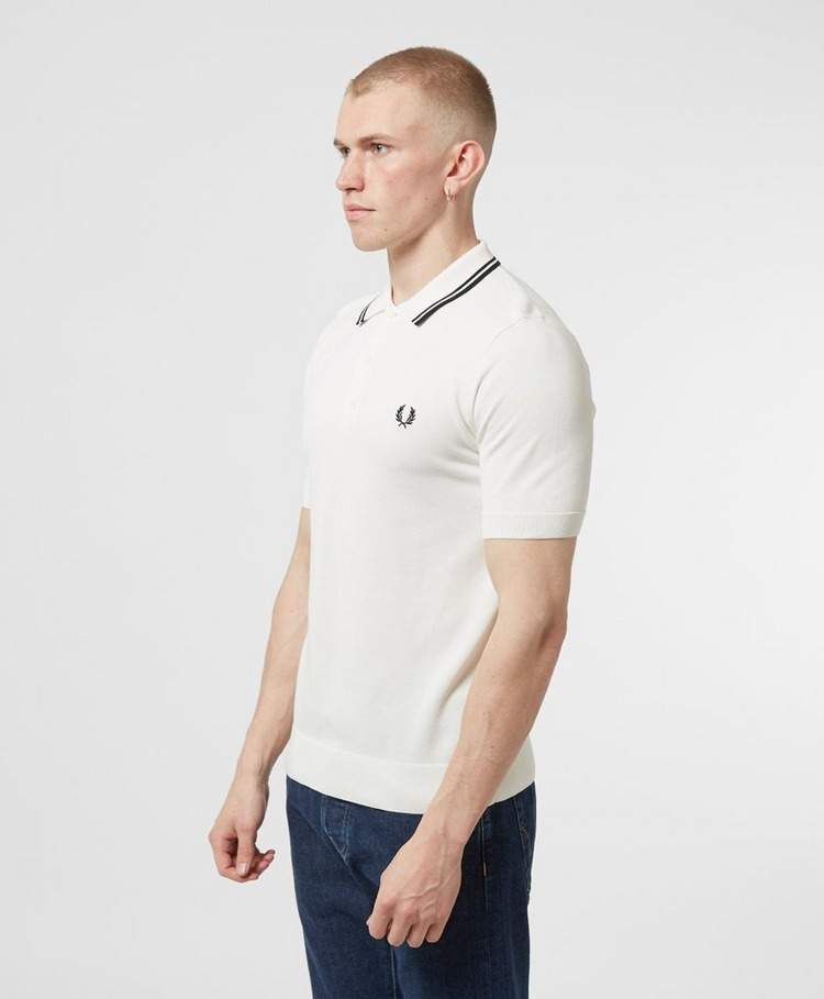 Fred Perry Twin Tipped Knitted Short Sleeve Polo Shirt