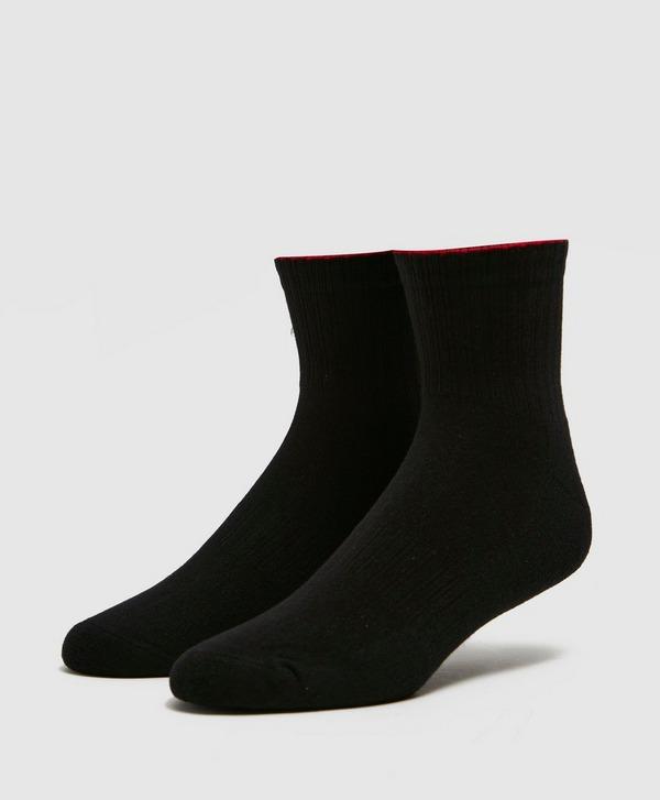 HUGO Ribbed Quarter Socks