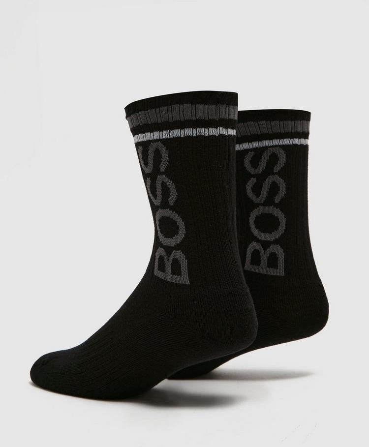BOSS Ribbed Logo Socks