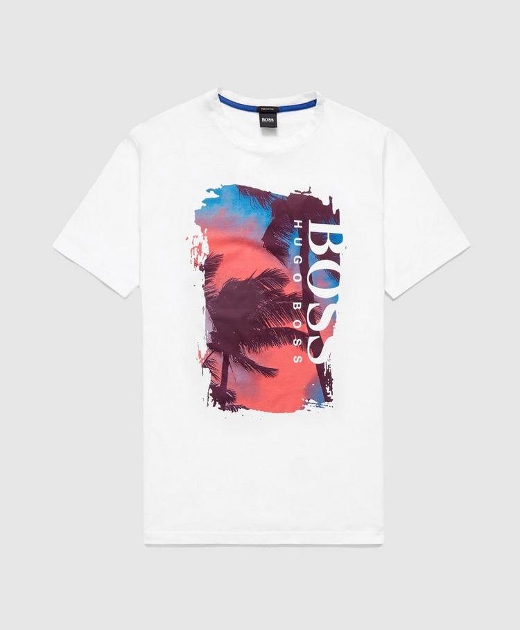 BOSS Tsummery Side Logo Palm Tree T-Shirt