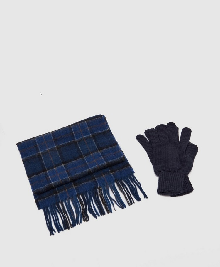 Barbour Tartan Glove & Scarf Gift Set