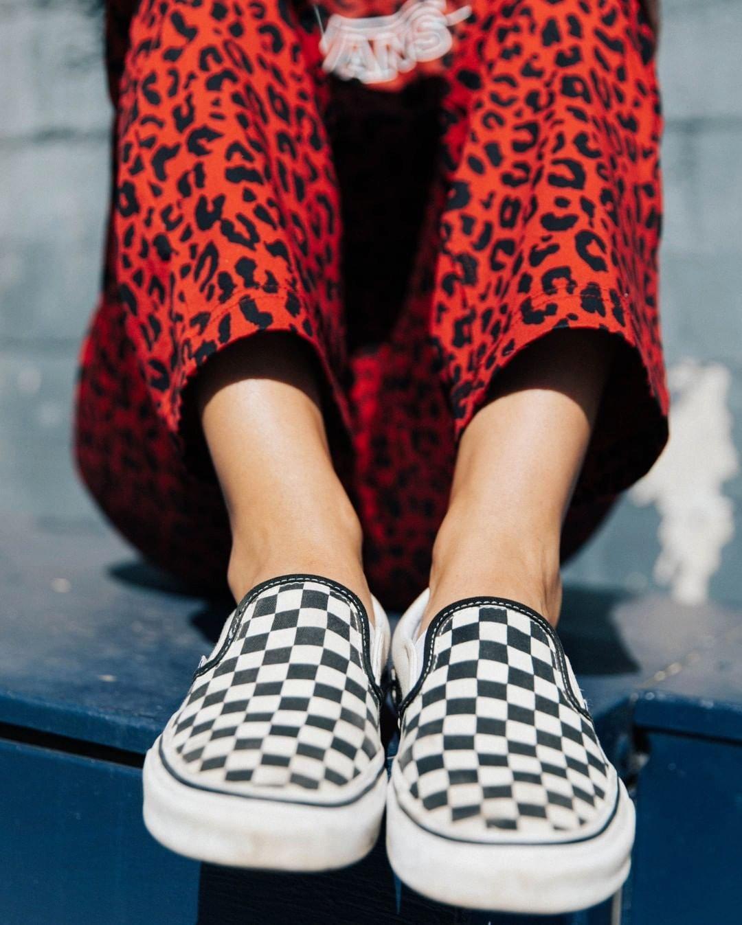 checkered slip-on