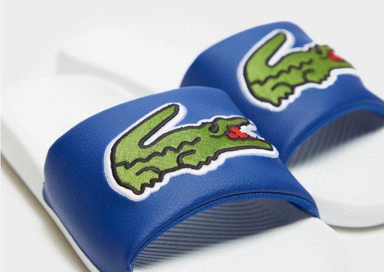 Heren blauwe Lacoste badslippers