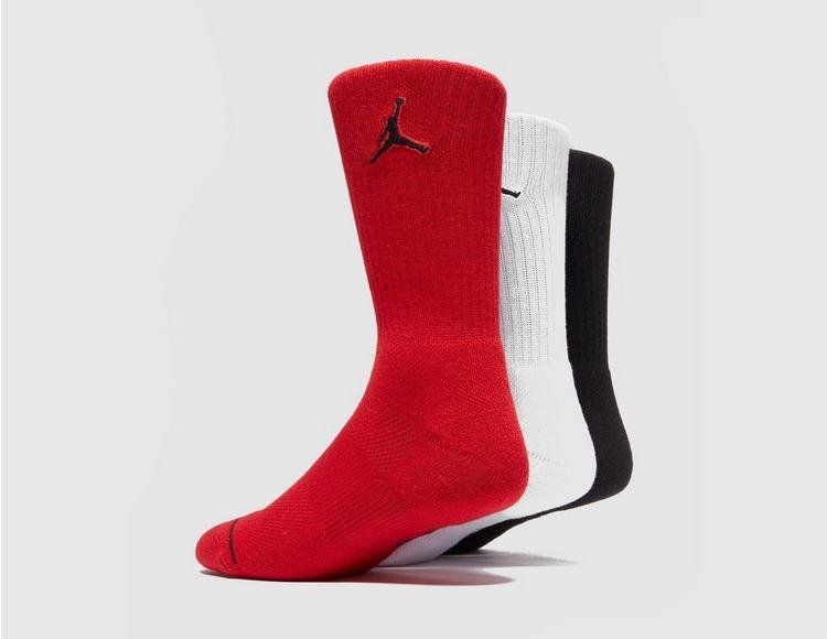 Jordan 3-Pakke Crew Sokker
