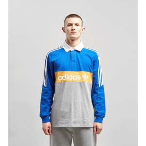 super popular c296e 145d5 adidas Originals Heritage Long Sleeve Rugby Polo Shirt