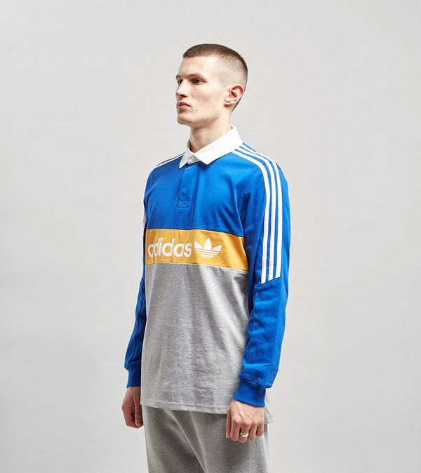 69bb30dd adidas Originals Heritage Long Sleeve Rugby Polo Shirt | Size?