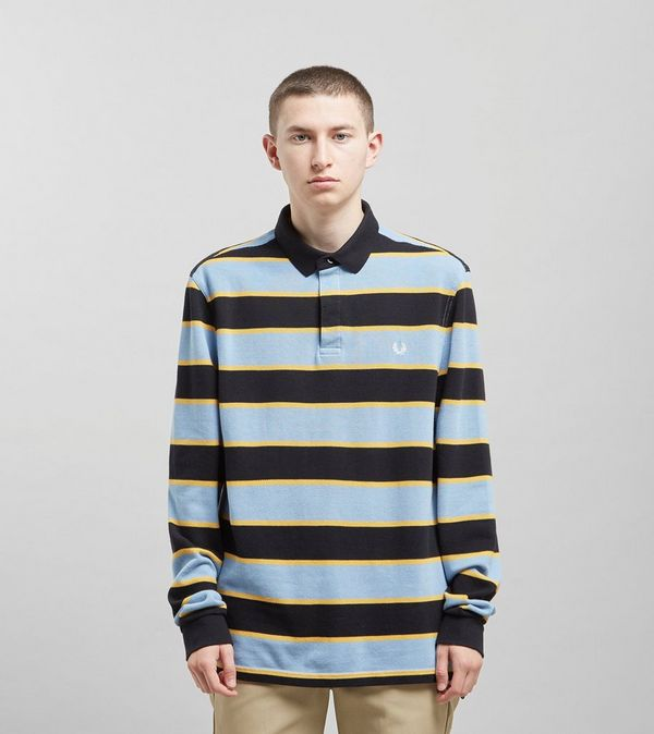 Fred Perry Stripe Long Sleeved Rugby Shirt - size?exclusive