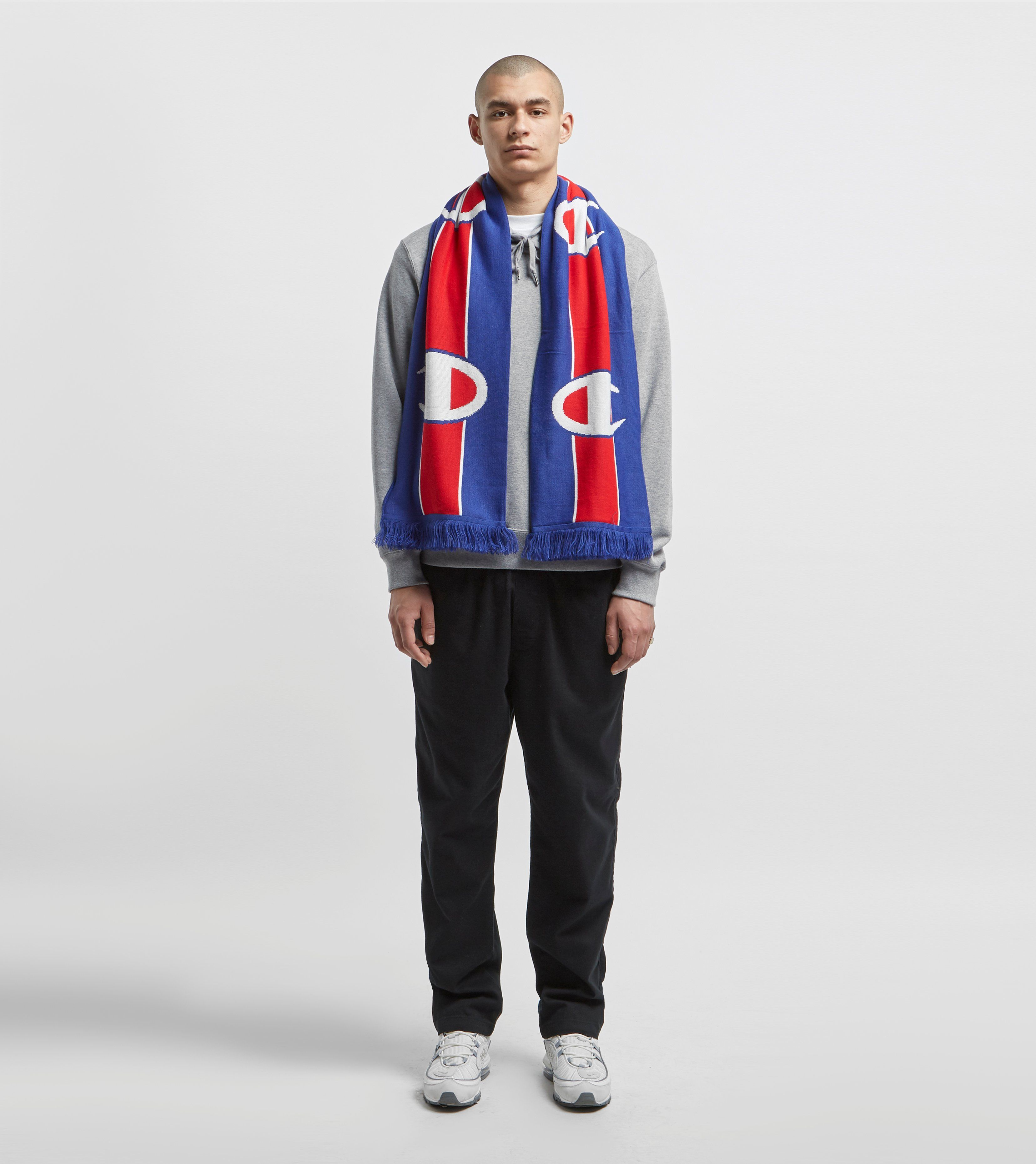 Champion Logo Stripe Knitted Ski Scarf