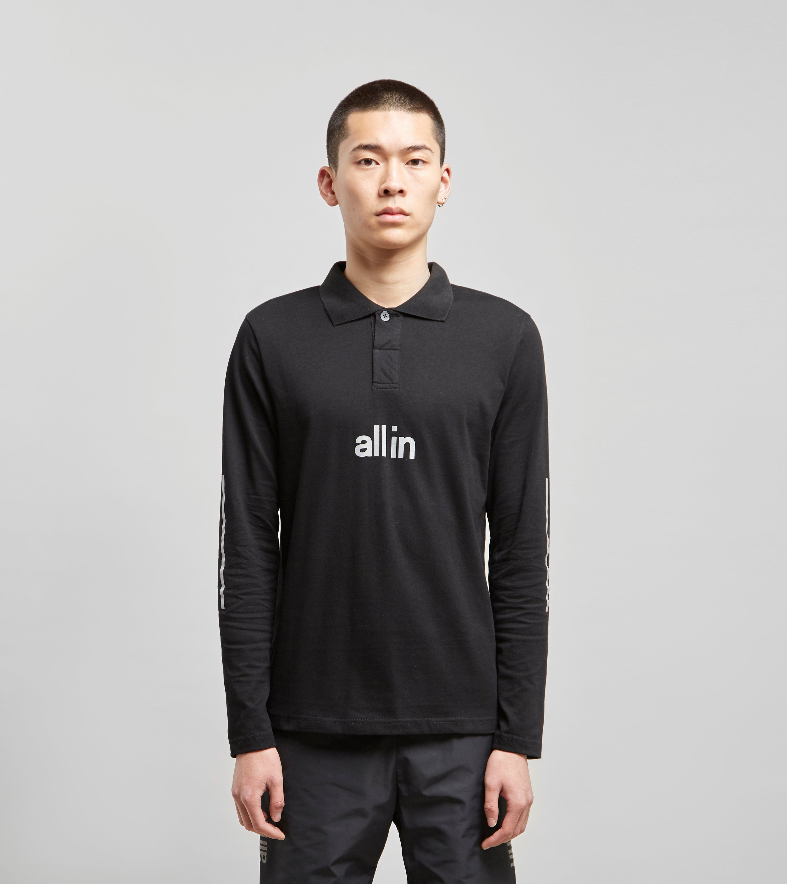 all in Tennis Long Sleeve Polo Shirt