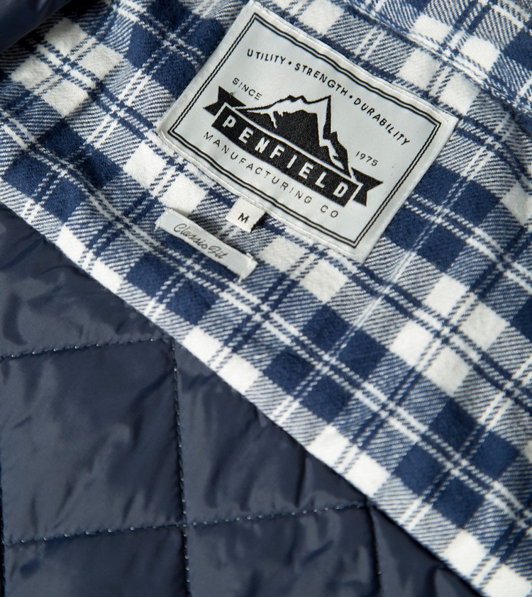 Penfield Kemsey Check Quilted Shirt