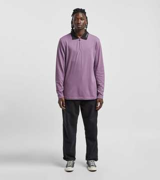 Stussy Lion Long Sleeve Zip Polo