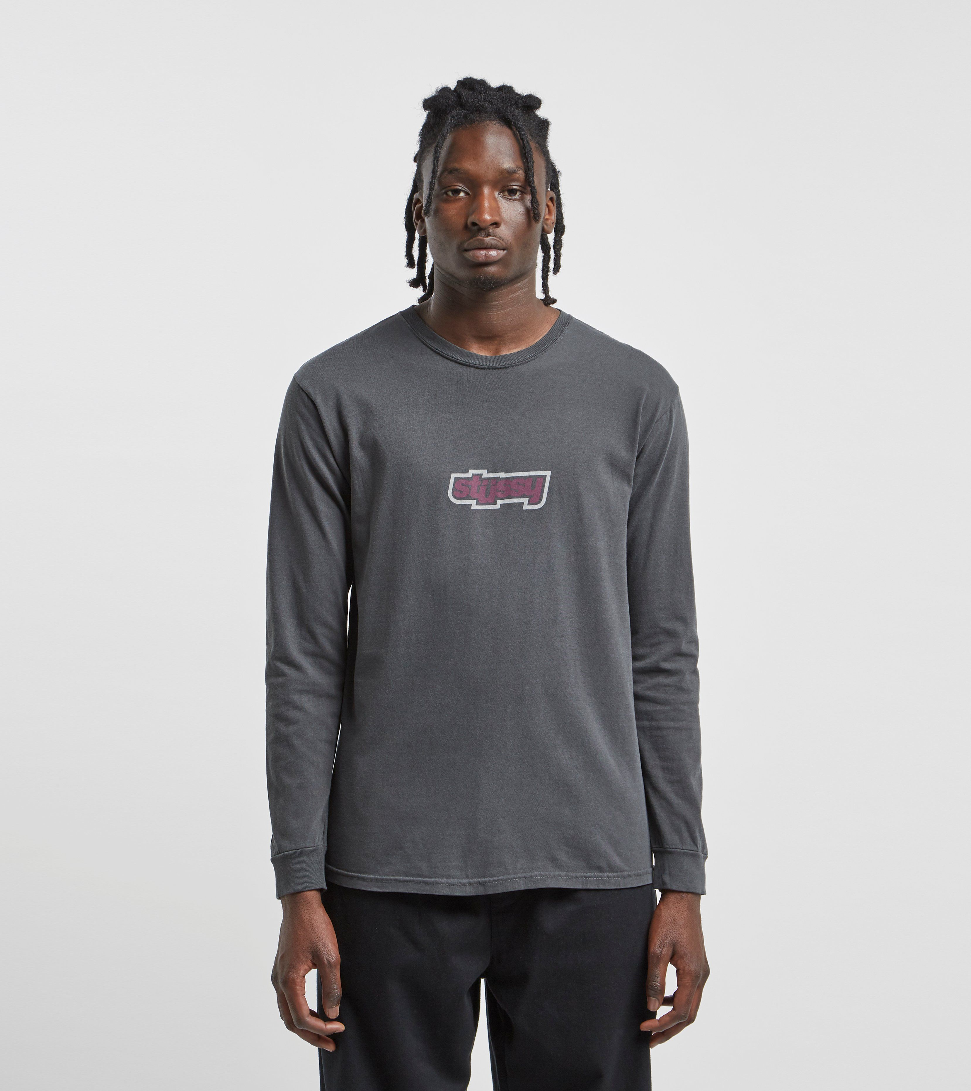 Stussy Drop U Pigment Dyed Long Sleeve T-Shirt