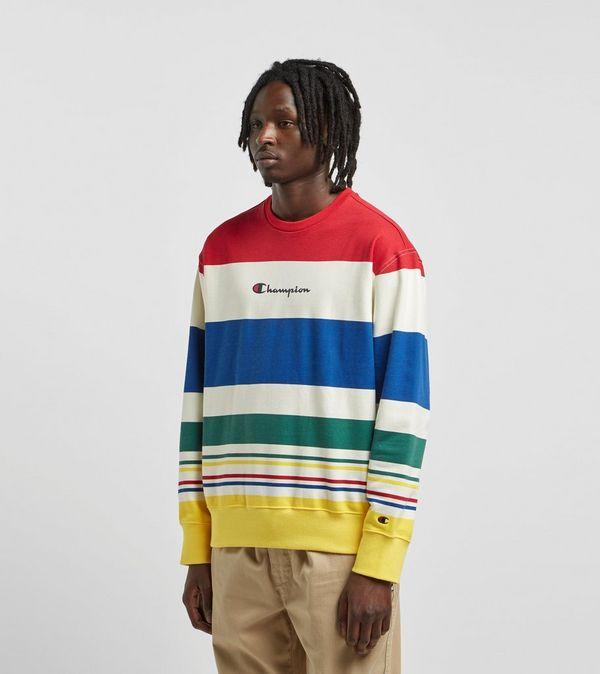 Champion Multi Stripe Crewneck Sweatshirt