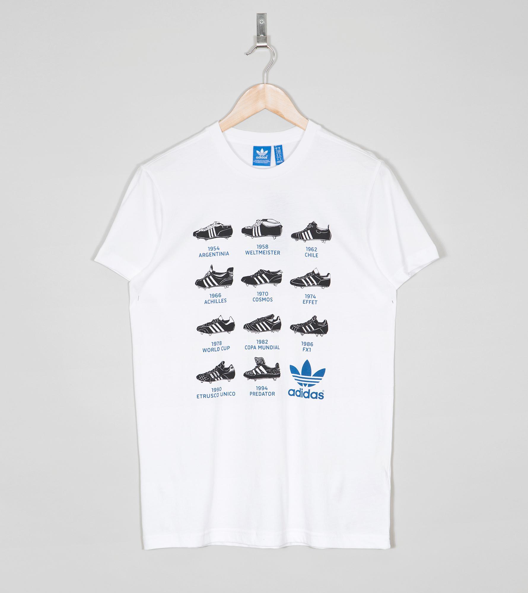 adidas boot history t shirt