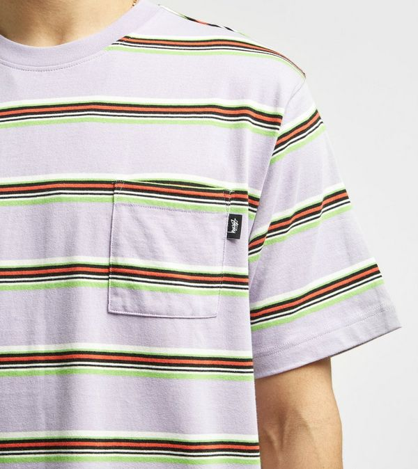 54a5348d93 Stussy Malcom Stripe T-Shirt | Size?
