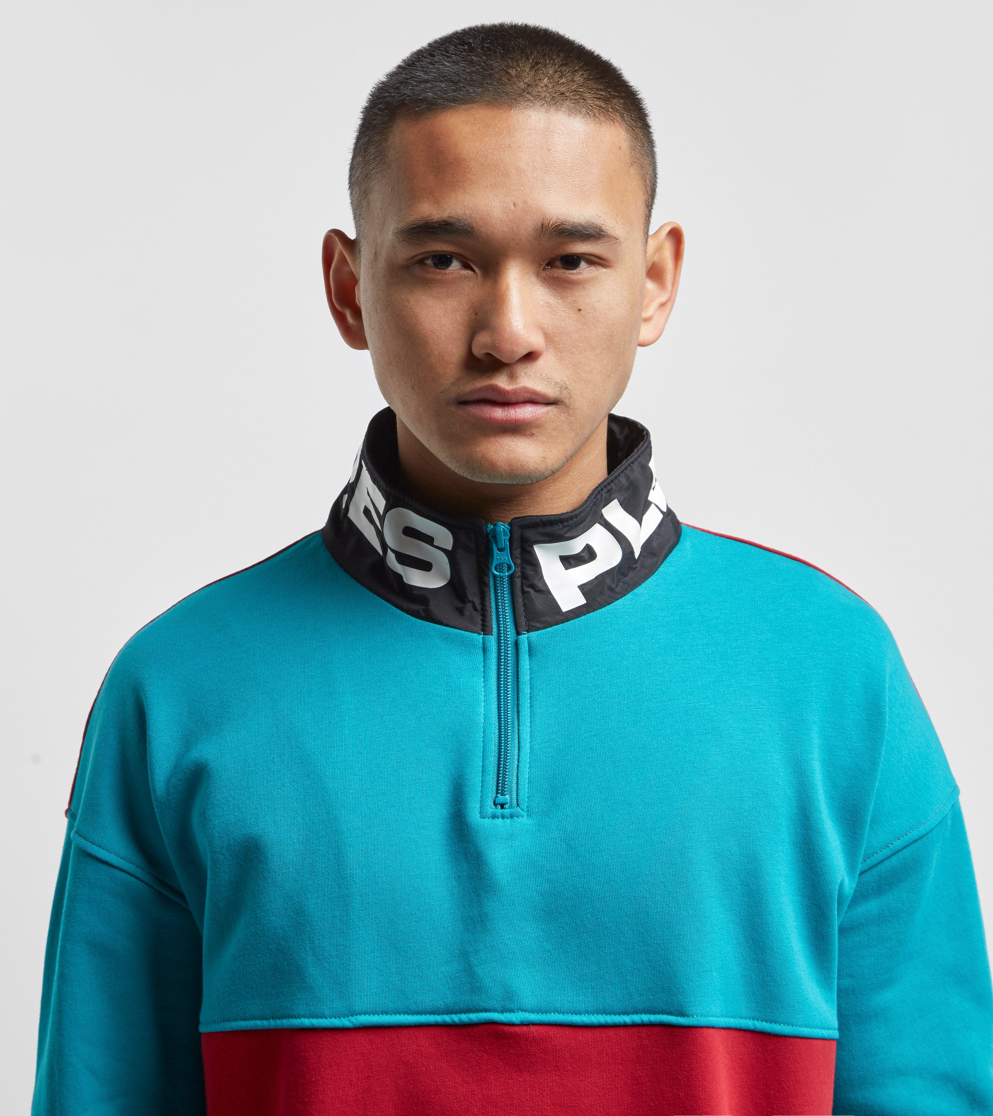 PLEASURES Misfit Half Zip Sweatshirt
