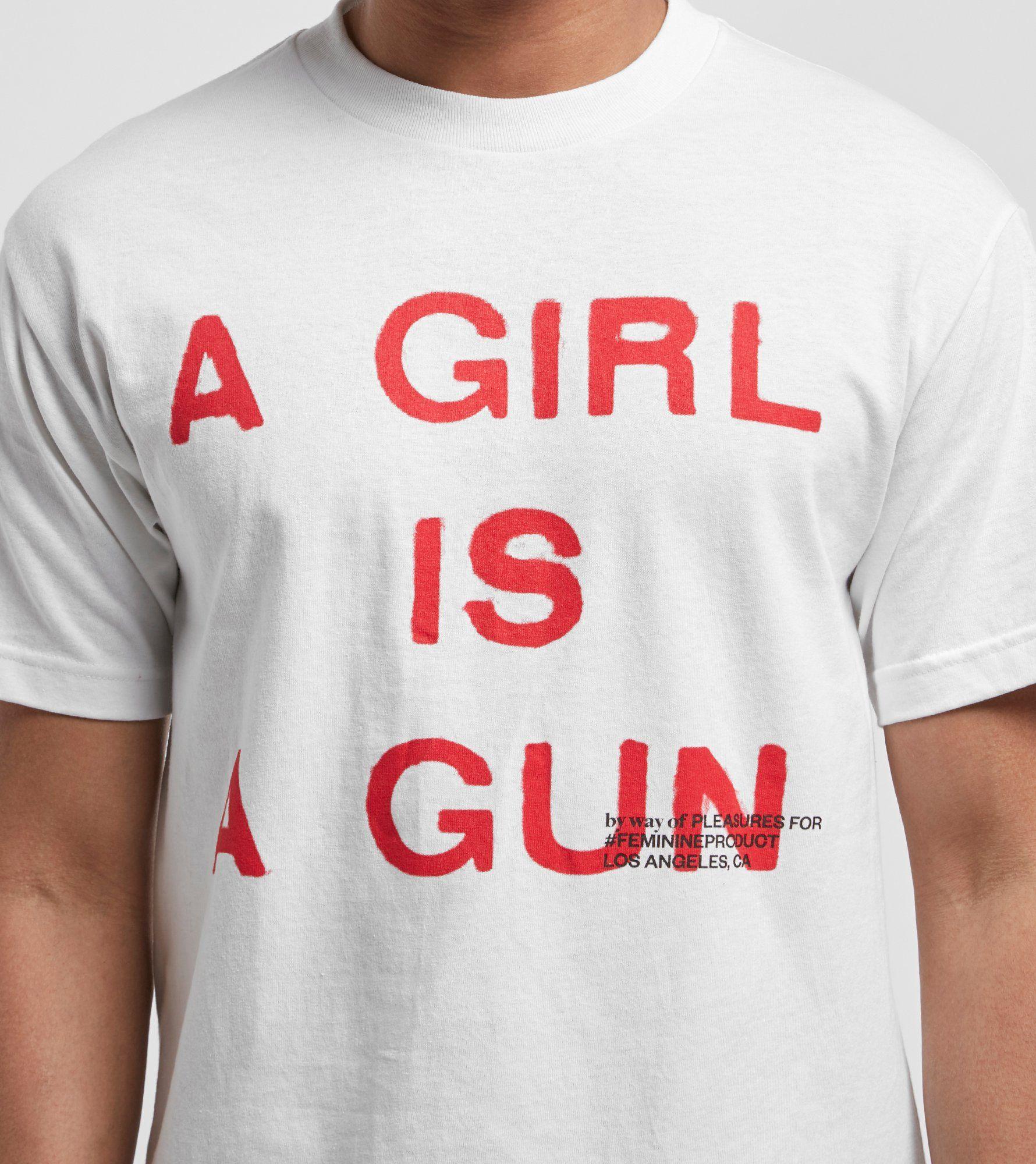 PLEASURES Girl is a Gun T-Shirt